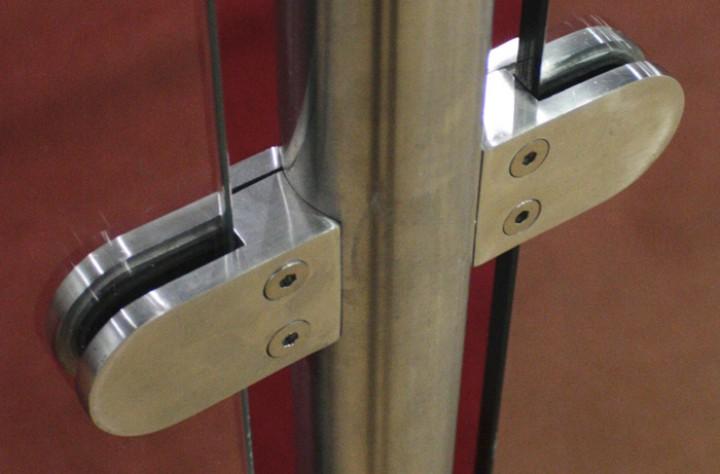 Glashalter Edelstahl Bauform B04 runder Anschluss