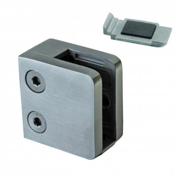 Glashalter Edelstahl G21 gerader Anschluss. Glas von 6,76 mm bis 8,76 mm