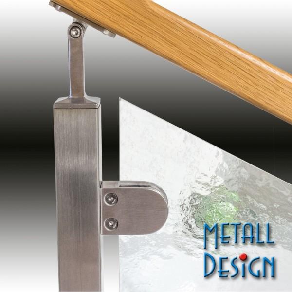gel nder edelstahl rohrst tze einstellbar anschluss flach handlaufhalter edelstahl. Black Bedroom Furniture Sets. Home Design Ideas