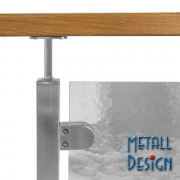 Glashalter Edelstahl Bauform G04 gerader Anschluss