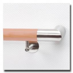 Handlauf Buche geölt DS22 mit beidseitigen Handlaufeckbogen Edelstahl