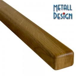 Handlauf Nussbaum Rechteck 30 x 50 mm Stab Länge auf Maß gefertigt.