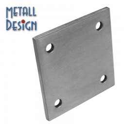 Ankerplatte Edelstahl Quadrat 02