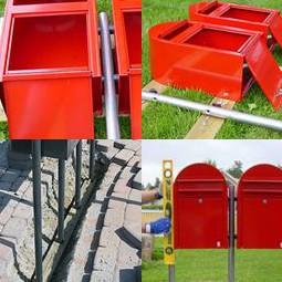 Bobi Briefkasten an dem Bobi Link Briefkastenständer montieren