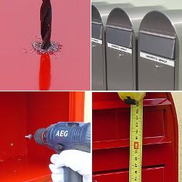 Bobi Briefkasten an der Wand oder am Zaun montieren