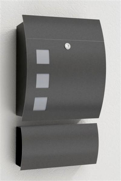 cmd briefkasten typ 76 mit zeitungsfach 78 anthrazit sonstige hersteller briefkasten ihr. Black Bedroom Furniture Sets. Home Design Ideas