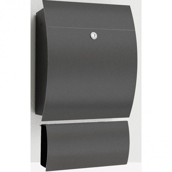 cmd briefkasten typ 77 mit zeitungsfach 78 anthrazit. Black Bedroom Furniture Sets. Home Design Ideas