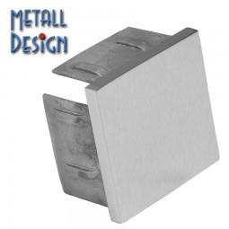 Endkappe Vierkantrohr Edelstahl flach, von 20x20 bis 100x100 mm