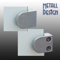 Glashalter Edelstahl G01 gerader Anschluss. Glas von 6,00 - 10,76 mm