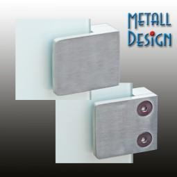 Glashalter Edelstahl Bauform G02 gerader Anschluss