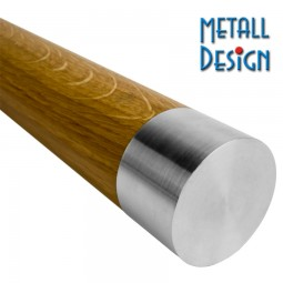Handlauf Holz Edelstahl Handlaufabschluss flach