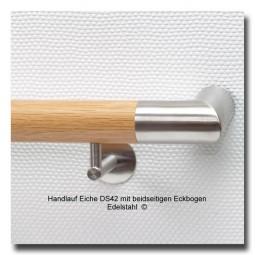 Handlauf Eiche DS42 Handlaufenden Edelstahl