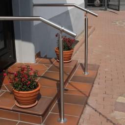 Geländerpfosten-Edelstahl zum Aufdübeln mit verstellbarem Kugelgelenk