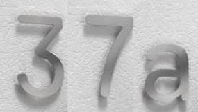 Hausnummer Edelstahl von Creativ Metall
