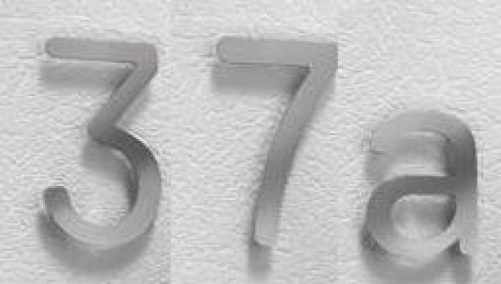 hausnummer edelstahl von creativ metall edelstahl hausnummern hauseingang ihr handlauf. Black Bedroom Furniture Sets. Home Design Ideas