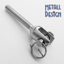 Metallschraube mit Gabelkopf V4A Stahl