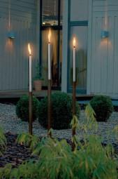 Gartenfackel Palos mit Edelstahl- Holzstab
