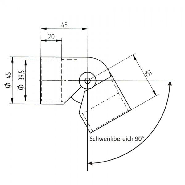Handlauf Holz Edelstahl Verbinder einstellbar