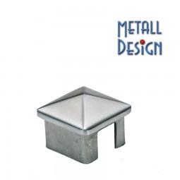 Vierkantrohr-Edelstahl Endkappe Prisma