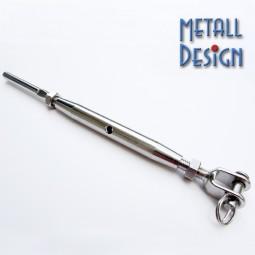 Wantenspanner mit Gabel und Gewindeterminal V4A Stahl